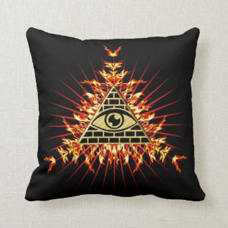 Allsehendes eye of God, pyramid, planning Cushion