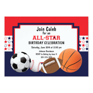 Allstar Birthday Party - Sports Card