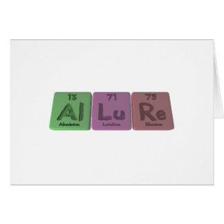 Allure-Al-Lu-Re-Aluminium-Lutetium-Rhenium Greeting Card