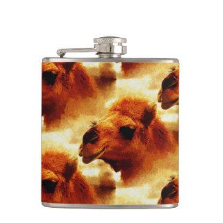 Alluring Camel Face Hip Flask