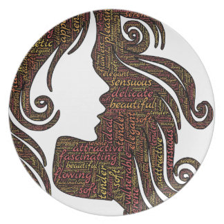 Alluring lady party plates