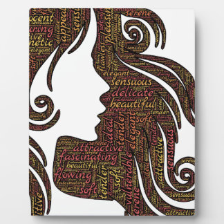 Alluring lady plaque