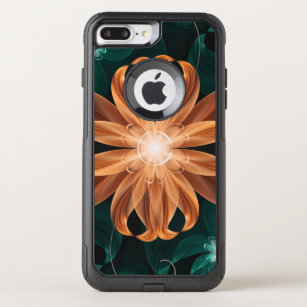 Alluring Turquoise and Orange Fractal Tiger Lily OtterBox Commuter iPhone 8 Plus/7 Plus Case