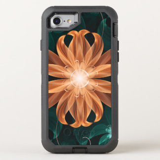 Alluring Turquoise and Orange Fractal Tiger Lily OtterBox Defender iPhone 8/7 Case