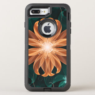 Alluring Turquoise and Orange Fractal Tiger Lily OtterBox Defender iPhone 8 Plus/7 Plus Case