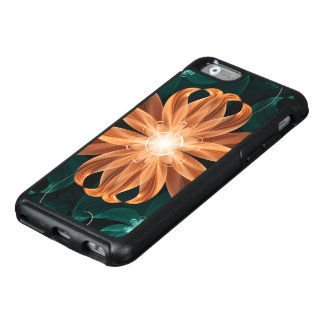 Alluring Turquoise and Orange Fractal Tiger Lily OtterBox iPhone 6/6s Case