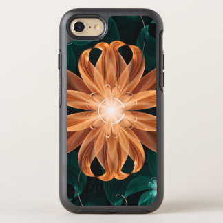 Alluring Turquoise and Orange Fractal Tiger Lily OtterBox Symmetry iPhone 8/7 Case