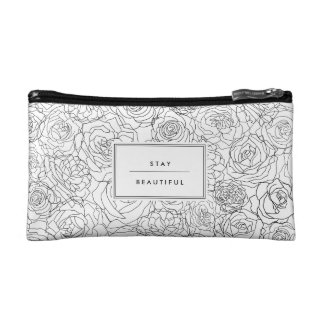 Alluringly floral - Customizable -  Tote Cosmetic Bag