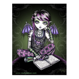 Ally Bat Winged Emo Ipod Fairy Postcard