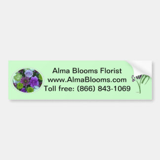 Alma Blooms Purple Bouquet Bumper Sticker