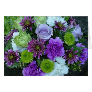 Alma Blooms Purple Bouquet Card
