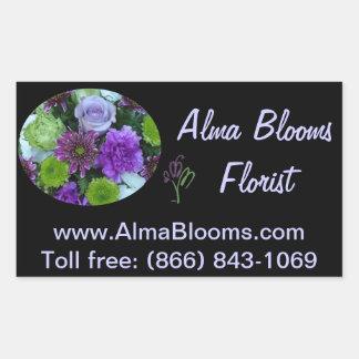 Alma Blooms Purple Bouquet Rectangular Sticker