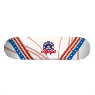 Alma, NY Custom Skateboard