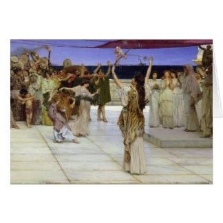 Alma-Tadema | A Dedication to Bacchus Card