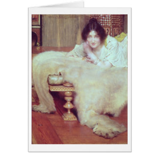 Alma-Tadema | A Listener: The Bear Rug, 1899 Card