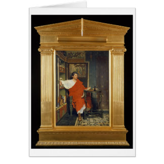 Alma-Tadema   A Roman Scribe Writing Dispatches Card