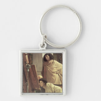 Alma-Tadema | A Visit to the Studio, 1873 Key Ring