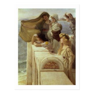 Alma-Tadema | At Aphrodite's Cradle, 1908 Postcard