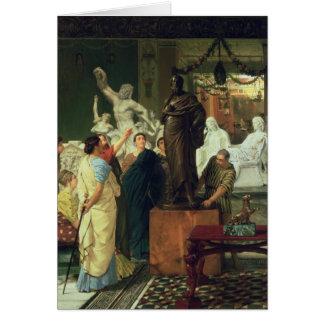 Alma-Tadema | Dealer in Statues Card