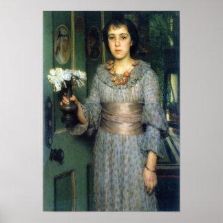 Alma-Tadema - Portrait of Anna Alma-Tadema Print
