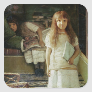 Alma-Tadema | This is our Corner, 1873 Square Sticker