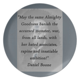 Almighty Goodness - Daniel Boone Plate
