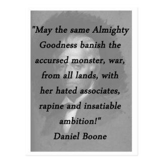 Almighty Goodness - Daniel Boone Postcard