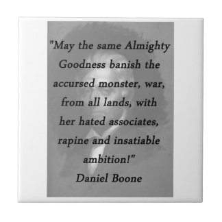 Almighty Goodness - Daniel Boone Tile