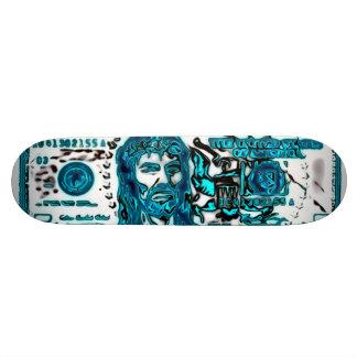 Almighty Jesus Blues Grunge Graffiti Deck 18.1 Cm Old School Skateboard Deck