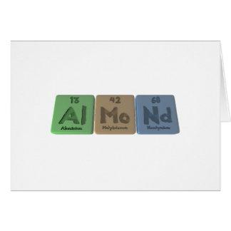 Almond-Al-Mo-Nd-Aluminium-Molybdenum-Neodymium Greeting Card