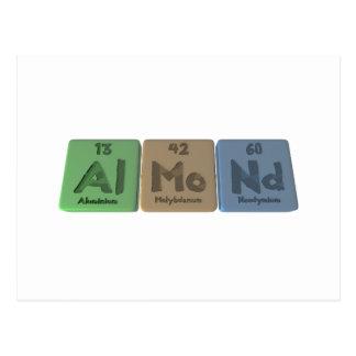 Almond-Al-Mo-Nd-Aluminium-Molybdenum-Neodymium Postcard