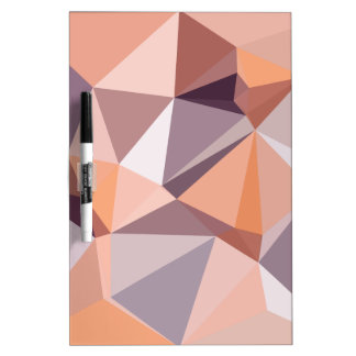 Almond Beige Abstract Low Polygon Background Dry Erase Board