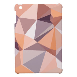 Almond Beige Abstract Low Polygon Background iPad Mini Covers