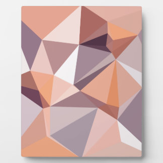 Almond Beige Abstract Low Polygon Background Plaque