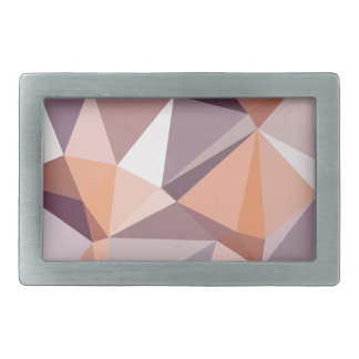 Almond Beige Abstract Low Polygon Background Rectangular Belt Buckle