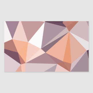 Almond Beige Abstract Low Polygon Background Rectangular Sticker
