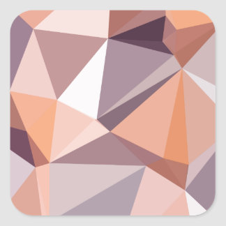 Almond Beige Abstract Low Polygon Background Square Sticker