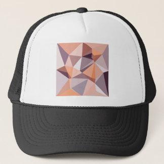 Almond Beige Abstract Low Polygon Background Trucker Hat