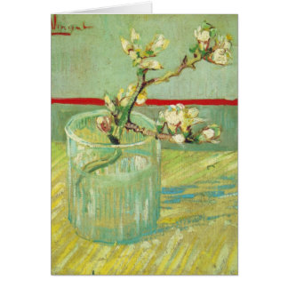 Almond Blossom Branches in Glass Van Gogh Fine Art Card