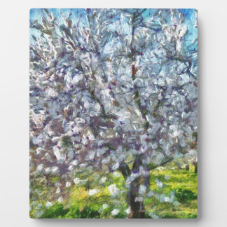 Almond Blossom Plaque