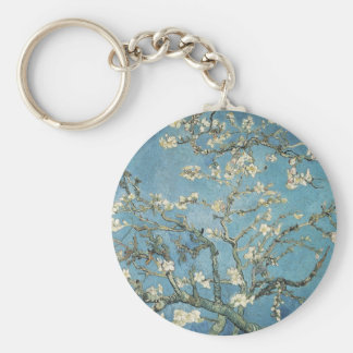 Almond branches in bloom, 1890, Vincent van Gogh Basic Round Button Key Ring