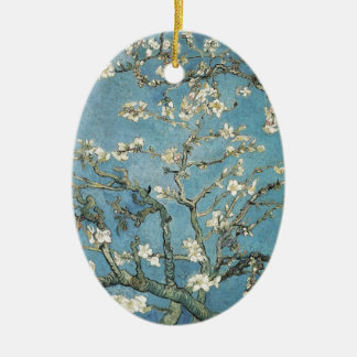 Almond branches in bloom, 1890, Vincent van Gogh Ceramic Oval Decoration
