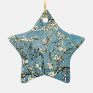 Almond branches in bloom, 1890, Vincent van Gogh Ceramic Star Decoration