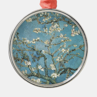Almond branches in bloom, 1890, Vincent van Gogh Silver-Colored Round Decoration