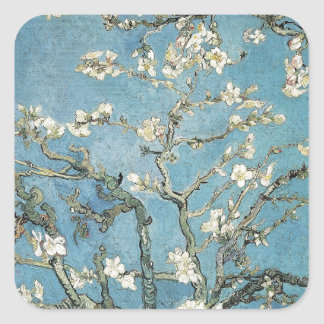 Almond branches in bloom, 1890, Vincent van Gogh Square Sticker