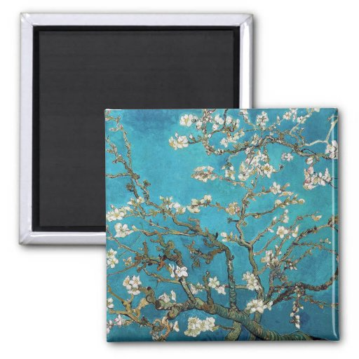 Almond Branches in Bloom, San Remy, c.1890 Fridge Magnet