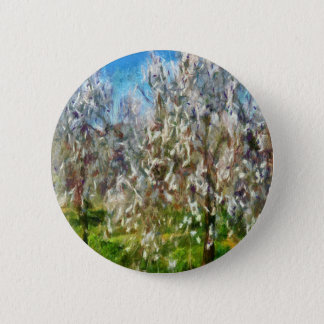 Almond Orchard Blossom 6 Cm Round Badge