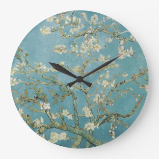 Almond tree in blossom by Vincent Van Gogh Wall Clocks