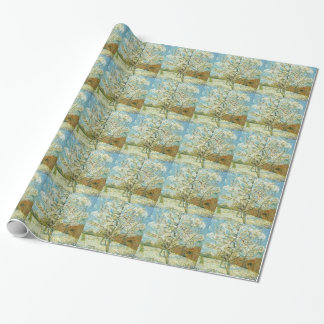 Almond tree wrapping paper