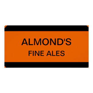Almond's Fine Ales Sign
